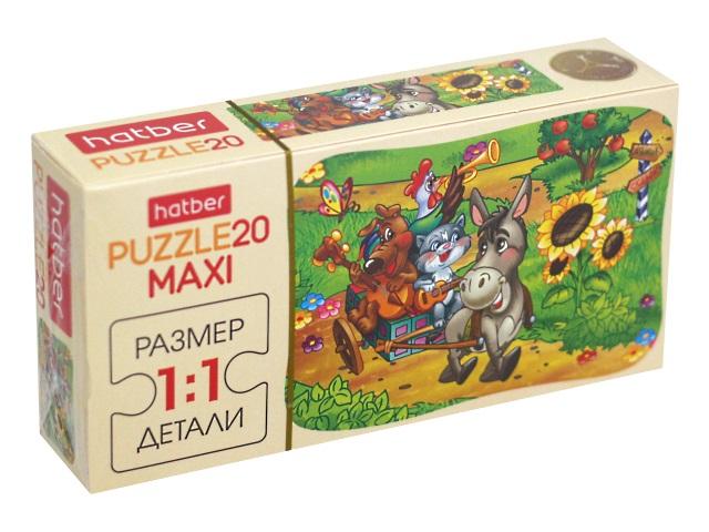 Пазлы Maxi 20 деталей Hatber Музыкальный квартет 20ПЗ5_10720