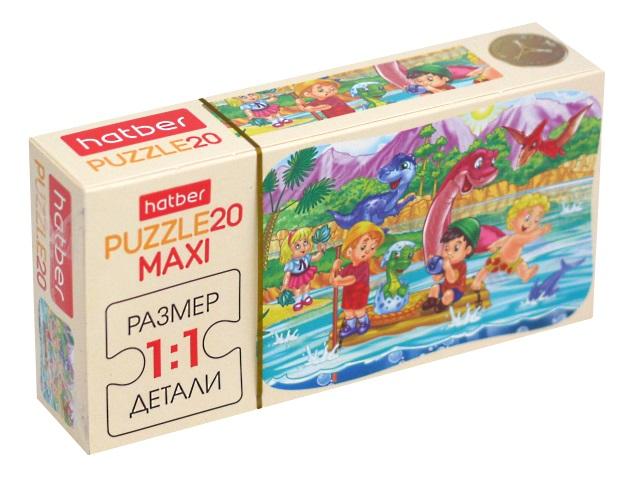 Пазлы Maxi 20 деталей Hatber Динопарк 20ПЗ5_11330
