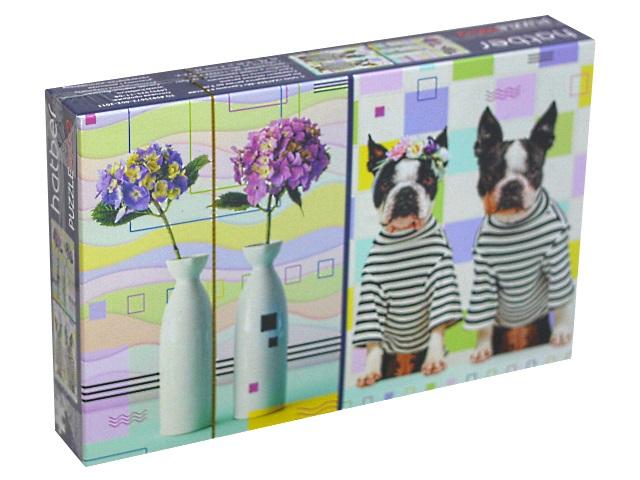 Пазлы комплект 2 в 1 Hatber Цветы-Собаки Д1000ПЗ2_22143