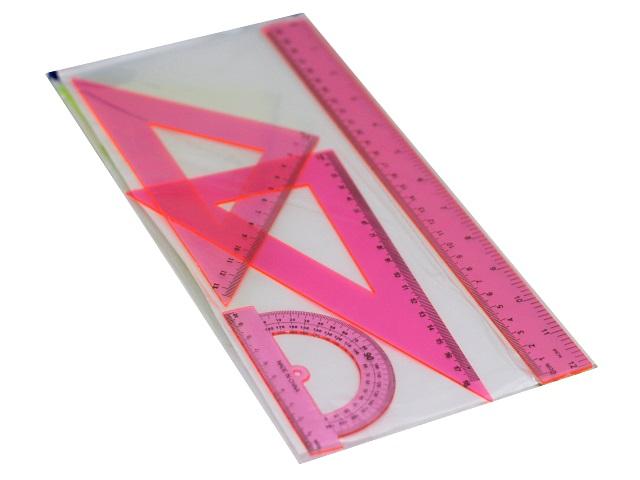 Набор чертёжный 4 предмета 30 см Basir цветной МС-3385
