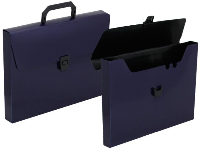 Портфель А4 пластик Бюрократ  1 отделение черничный DLPP01bberry 1135779