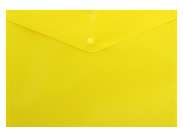 Папка конверт на кнопке А4 Бюрократ желтая 180 мкм PK803ANyel 816640