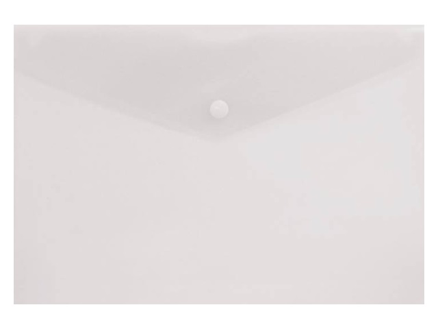 Папка конверт на кнопке А4 Бюрократ прозрачная 150 мкм PK803Tclear 816645