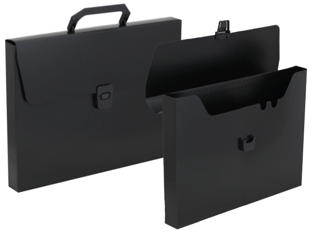 Портфель А4 пластик Бюрократ  1 отделение черный BPP01blck 816260