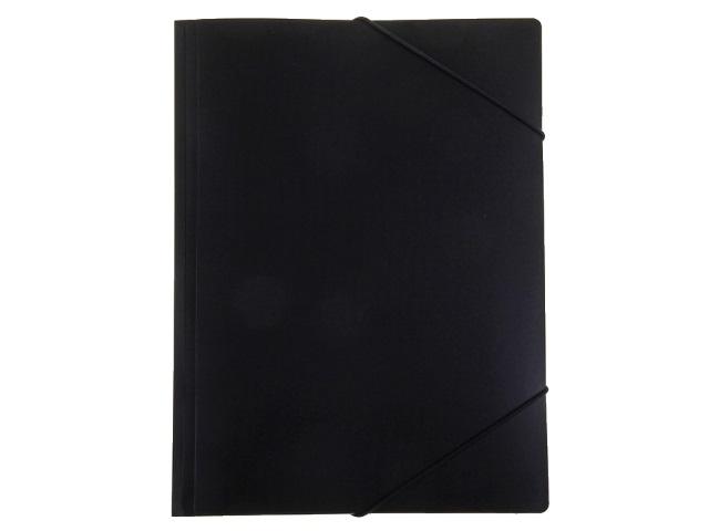 Папка на резинке А4 Бюрократ черная PR04BLCK 816772