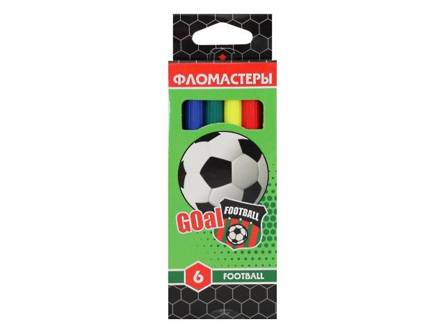 Фломастеры  6цв Hatber Football BFk_06118