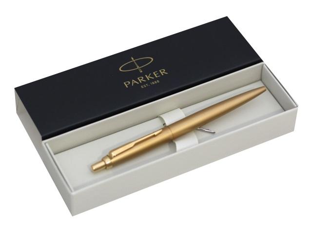 Ручка Parker шариковая автомат Jotter Monochrome синяя 1мм золотой корпус 2122754