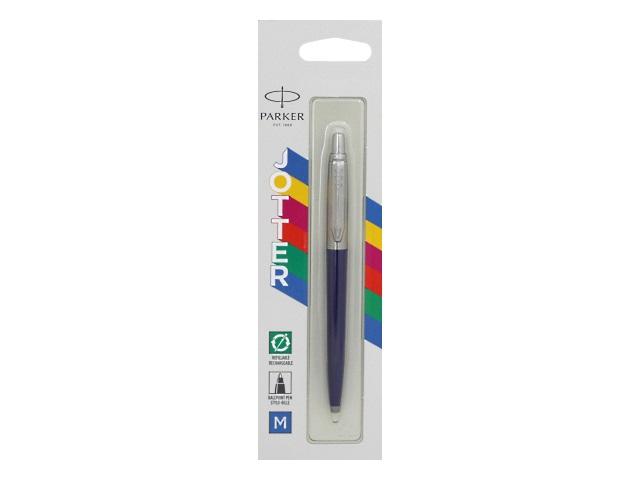 Ручка Parker шариковая автомат Jotter Color синяя 1мм синий корпус 2123427