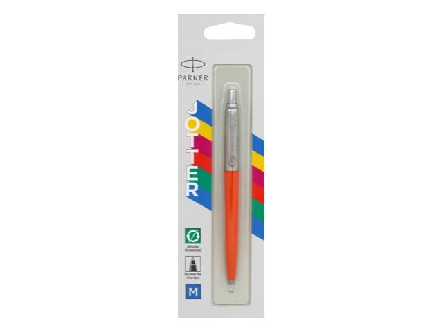 Ручка Parker шариковая автомат Jotter Color синяя 1мм оранжевый корпус 2076054