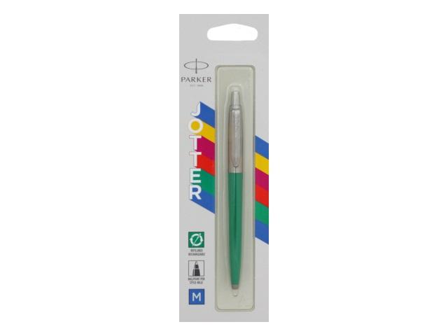 Ручка Parker шариковая автомат Jotter Color синяя 1мм зеленый корпус 2076058