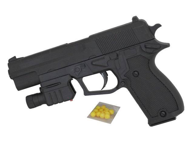 Пистолет на пульках 18см с лазерным прицелом 1B01488
