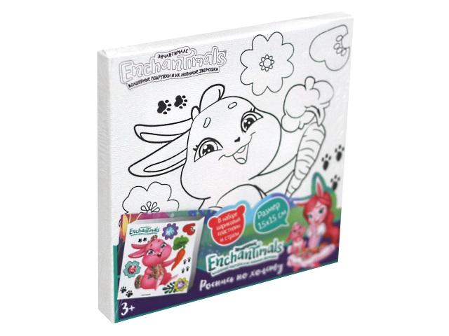 Холст 15*15см MultiArt Enchantimals Кролик Твист с шариковым пластилином 26639-EN