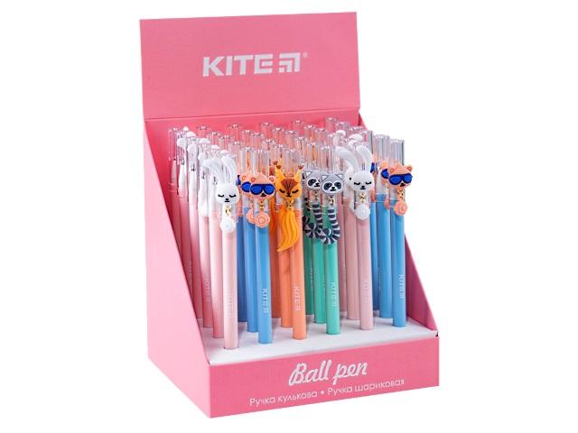 Ручка шариковая Kite Funny tails синяя 0.5мм K20-353