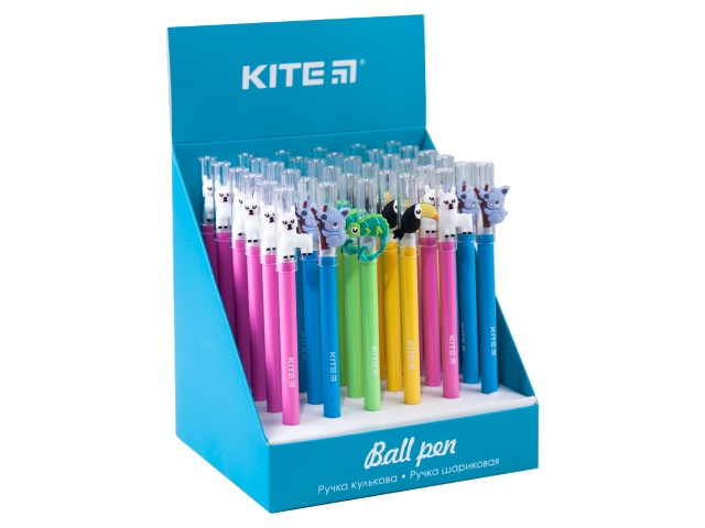 Ручка шариковая Kite Tropic синяя 0.5мм K20-354