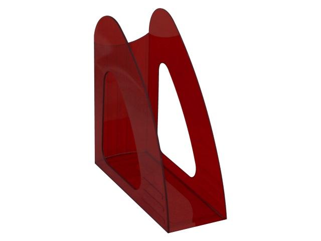 Лоток вертикальный  9см Mazari Light прозрачный красный M-16037