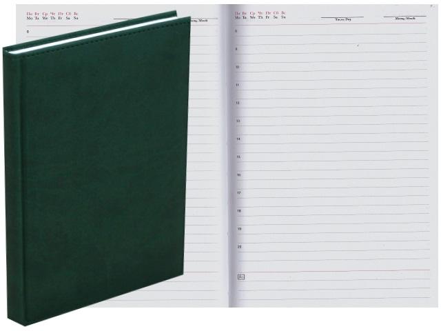 Ежедневник А5 кожзам 128л Апплика Sorrento зеленый С2616-128