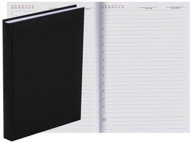 Ежедневник А5 тв/переплёт 160л Апплика Sorrento черный С0360-234