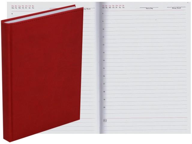 Ежедневник А5 тв/переплёт 160л Апплика Sorrento красный С0360-235