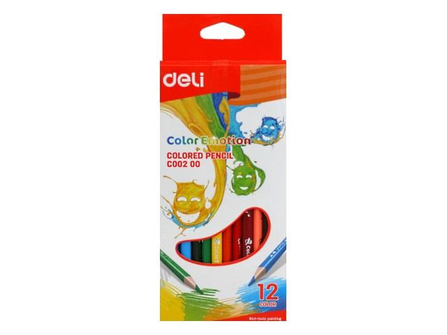 Карандаши цветные 12цв Deli Color Emotion трехгранные EC00200