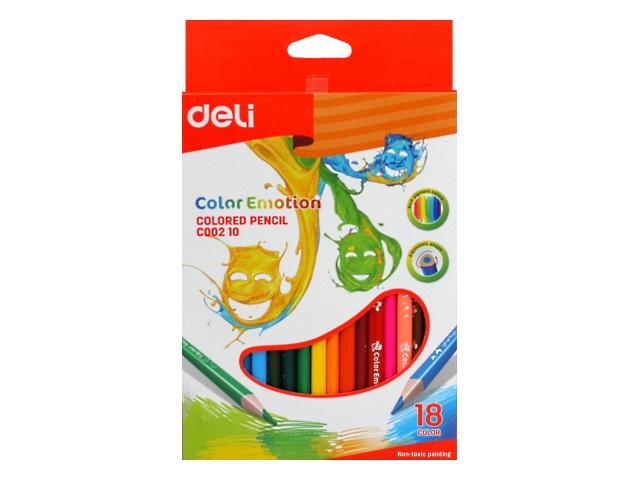 Карандаши цветные 18цв Deli Color Emotion трехгранные EC00210