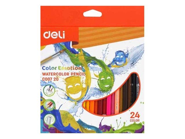 Карандаши цветные 24цв Deli Color Emotion акварельные EC00720