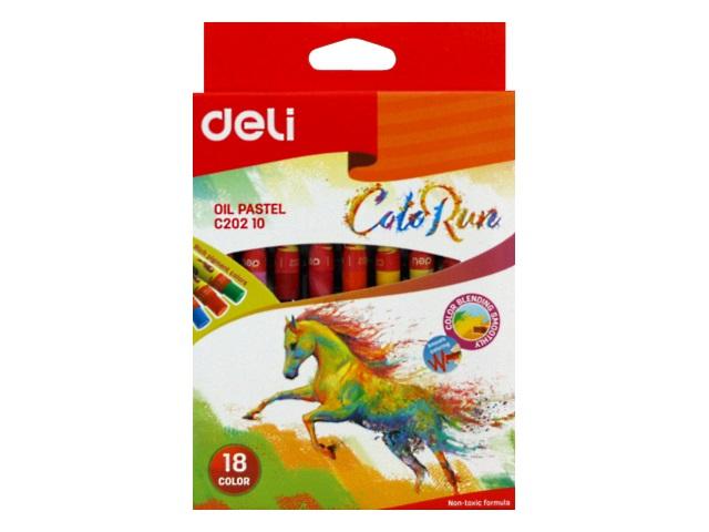 Пастель масляная 18цв Deli ColoRun EC20210