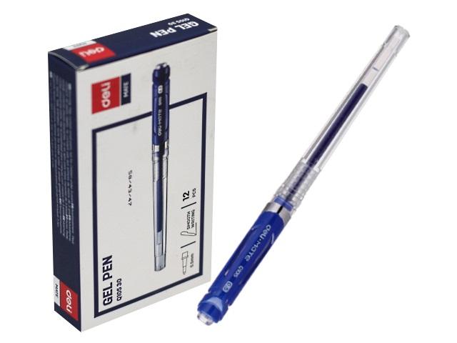 Ручка гелевая Deli Mate синяя 0.5мм EQ10530