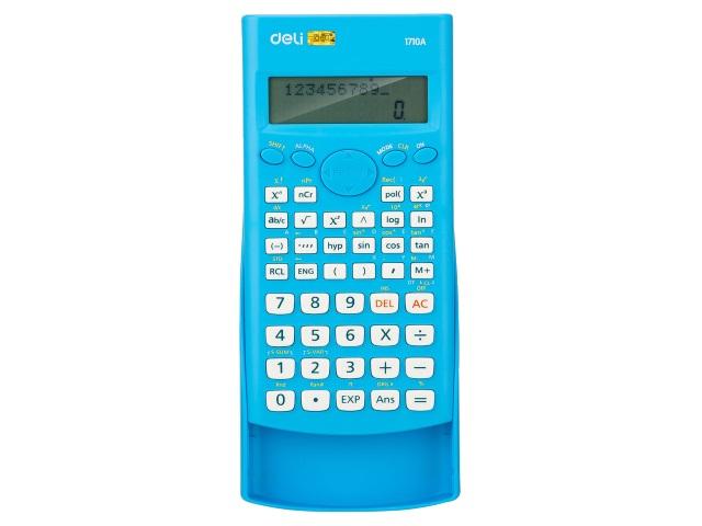 Калькулятор инженерный 12-разрядный Deli  8*16см синий E1710A/BLU