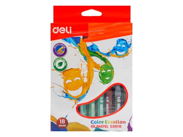 Пастель масляная 18цв Deli Color Emotion EC20110