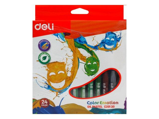 Пастель масляная 24цв Deli Color Emotion EC20120