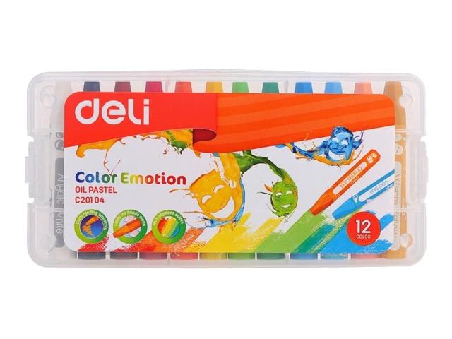 Пастель масляная 12цв Deli Color Emotion EC20104