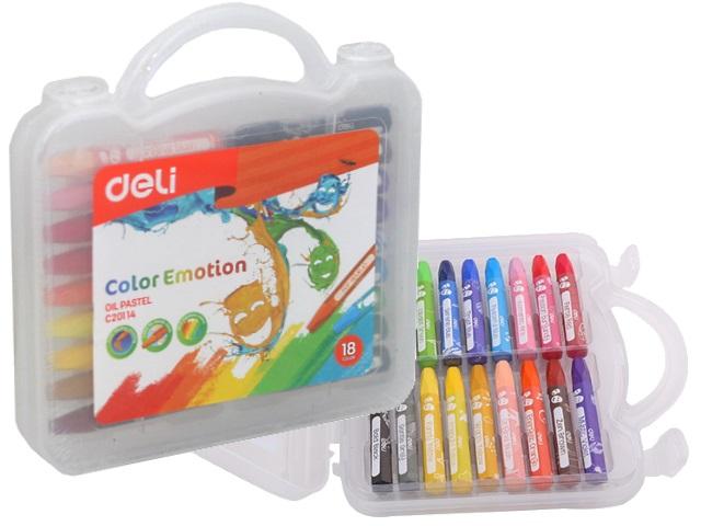 Пастель масляная 18цв Deli Color Emotion EC20114