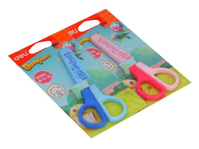 Ножницы детские 12 см Deli пластиковые ручки E6021