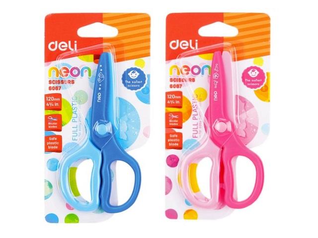 Ножницы детские 12 см Deli пластиковые ручки E6067