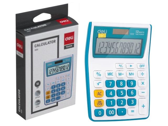 Калькулятор 12-разрядный Deli синий 8*12см E1122/BLUE