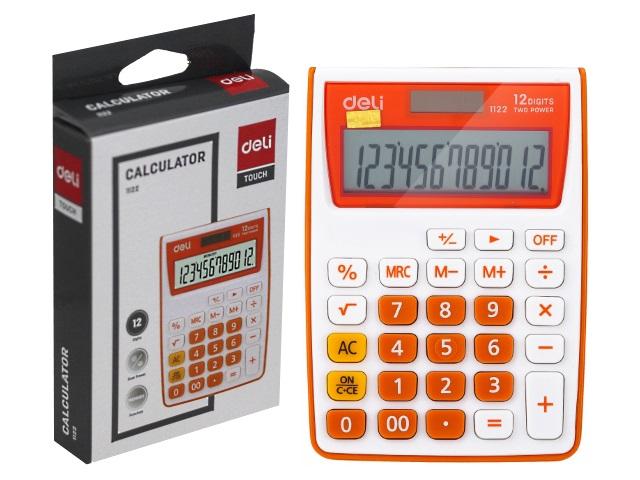 Калькулятор 12-разрядный Deli  8.5*12см оранжевый E1122/OR