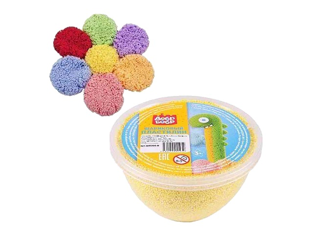 Пластилин шариковый ДобрБобр 200г цветной ШБ200-0