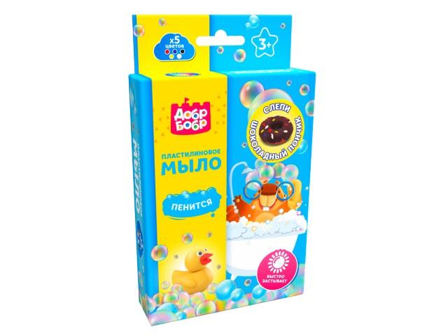 Пластилин мыльный ДобрБобр Шоколадный пончик 75г ПМ575-3