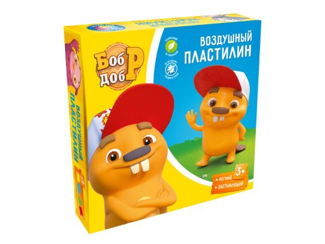 Пластилин воздушный ДобрБобр 4 цвета по 50г БДВП4