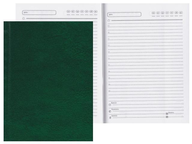 Ежедневник А6 тв/переплёт  96л Prof Press Зеленый 96БВ-3000