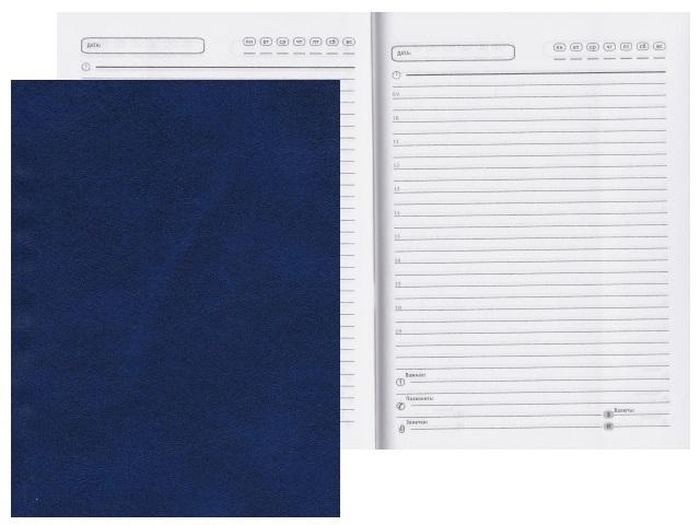 Ежедневник А6 тв/переплёт  96л Prof Press Синий 96БВ-3999