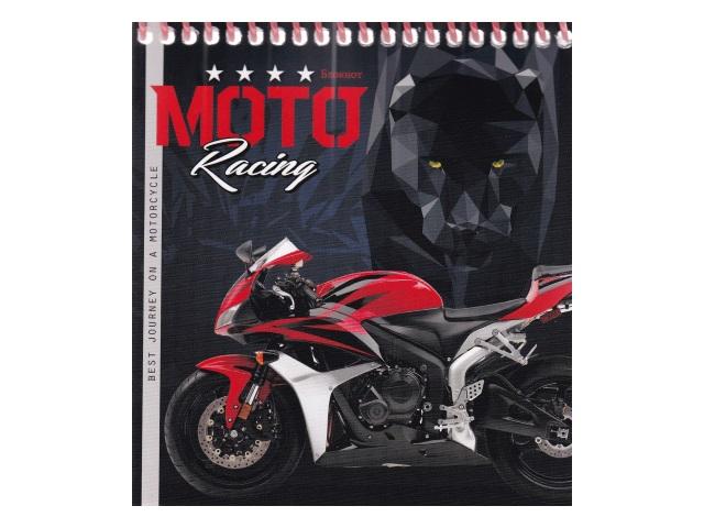 Блокнот А6 Prof Press спираль сверху м/обложка  40л Мотоцикл и пантера Б40-1782