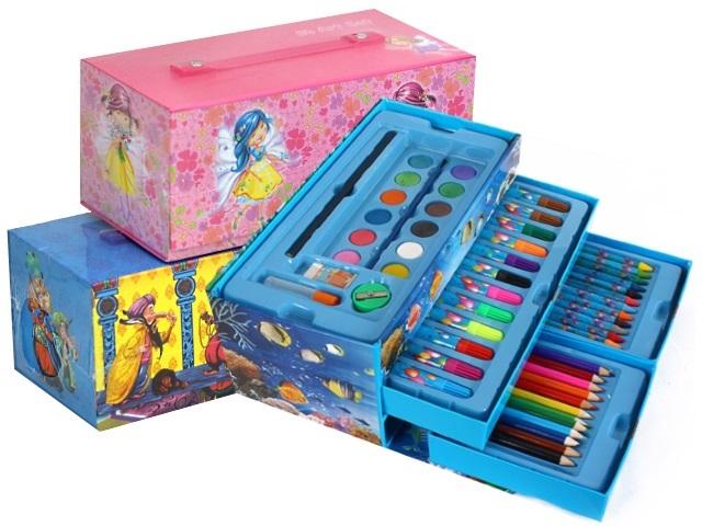 Набор для творчества  54 предмета в портфеле Basir МС-5028