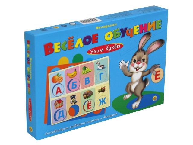 Игра развивающая Веселое обучение Учим буквы Рыжий кот ИН-1009