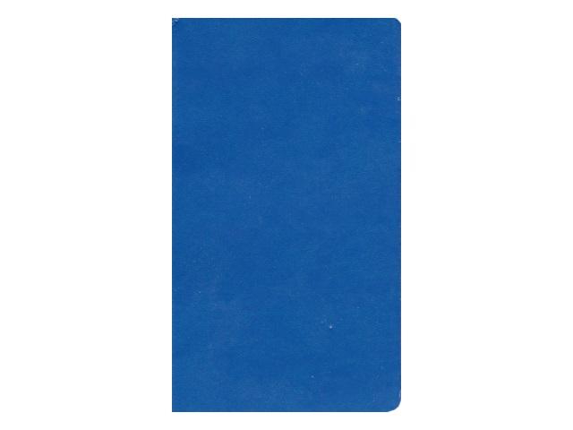 Записная книжка А6 Hatber кожзам 72л линия Vivella синяя 72ББL6В2_01609