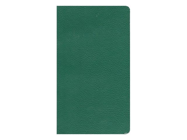 Записная книжка А6 Hatber кожзам 72л линия Magestic зеленая 72ББL6В2_04207