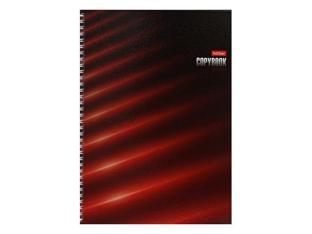 Тетрадь А4 120л Hatber спираль тв/обложка Red 120Тт4В1гр_20864