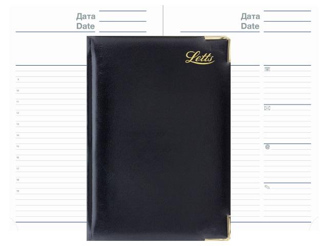 Ежедневник А5 кожзам 128л Letts Lexicon черный 822949 в коробке