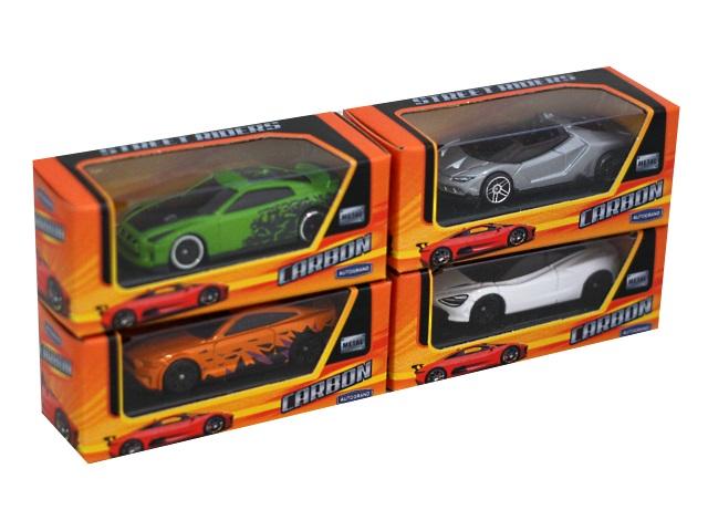 Машина металл Autogrand Carbon Sportcars 7см ассорти 71735