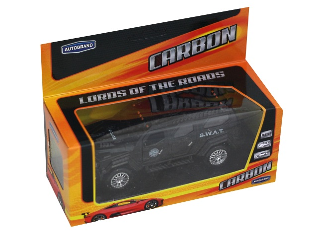 Машина металл Autogrand Carbon Battle Arsenal Car 12см черная 75075